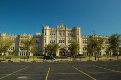 My school 3 blocks long. All limestone 4 stories high. Joliet Illinois, I School, Old Houses, Prison, Castle, Chicago, Exterior, City, Places