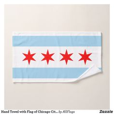 Flag Of Chicago, Chicago City, Christmas Card Holders, Christmas Cards, Hand Sanitizer, Hand Towels, Keep It Cleaner, Print Design, Vibrant