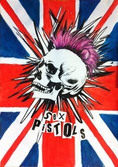 I always love punk music,and Sex Pistols is my favorites black pen,marker and Acrylics. Here is the process:[link] Punk's never die Punk Art, Arte Punk, Rock Posters, Band Posters, Style Punk Rock, Rock And Roll, Rock Festival, Punk Poster, British Punk