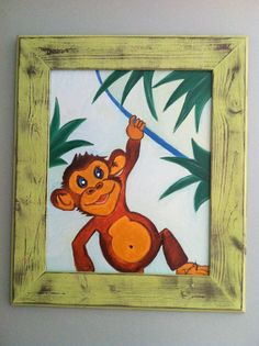 Monkey oil painting