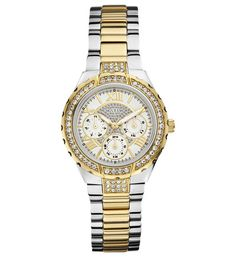 A collection of Iconic signature combinations inspired by the GUESS lifestyle. Trendy fashion-forward designs from GUESS Watches offer dynamic styling. Ring Watch, Gold Fashion, Trendy Fashion, Watch Sale, Sport, Stainless Steel Bracelet, Watches For Men, Guess Watches, Trendy Watches