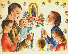 Family praying the rosary Catholic Crafts, Catholic News, Catholic Children, Roman Catholic, Lapsed Catholic, Novenas Catholic, Catholic Pictures, Novena Prayers, Prayer For Family