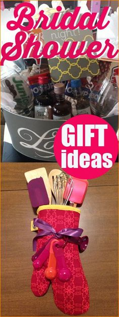 Creative Bridal Shower Gift Ideas. Great gifts for any occasion. DIY gift baskets. Gift baskets for Valentines, birthdays and Christmas. #bridalshowergifts