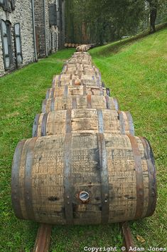 Barrels of Kentucky bourbon whiskey leaving the plant, Woodford Reserve, Labrot & Graham distillery, Versailles, KY