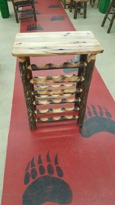 """Hand Built 18 Bottle Wine Rack!!  More Pics:  Like """"Black River Furniture Outlet"""" on Facebook!!"""