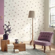 Butterfly Wallpaper Collection (source Caselio / Zepel) / Fabric Wallpaper Australia / The Ivory Tower Butterfly Wallpaper, Fabric Wallpaper, Room Design Bedroom, Color Effect, Soft Furnishings, Upholstery, Inspiration, Home Decor, Ivory