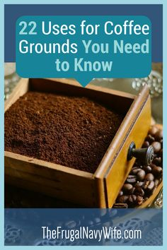 No one knows what to do with coffee grounds after they are used. However, these uses for coffee grounds will help you out so much! #coffeegrounds #usesforcoffeegrounds #frugalnavywife #frugallife | Uses for Coffee Grounds | How to use up coffee grounds | Using coffee grounds around the house | Gardening Hacks | Beauty Hacks | Frugal Living | Saving Money Hacks Do It Yourself Projects, Do It Yourself Home, Uses For Coffee Grounds, Navy Wife, Money Hacks, Amazing Crafts, Gardening Hacks, Diy Home Decor On A Budget, Diy Christmas Gifts