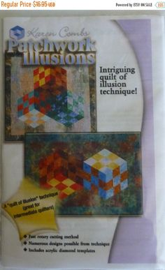Anniversary Sale Pattern, Patchwork Illusions by Karen Combs, Quilt, With Template Illusion Technique, Fast Shipping PT314