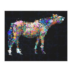 Abstract Appaloosa Horse-lover's Optical Illusion Stretched Canvas Prints
