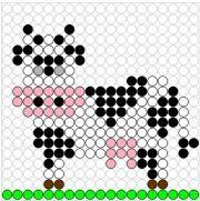 Deze kralenplank en vele andere in het thema boerderijdieren kun je vinden op de website van Juf Milou.