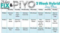 21 Day Fix Extreme PiYo Hybrid