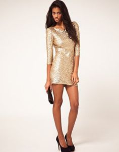 TFNC Sequin Dress with Long Sleeves at asos.com