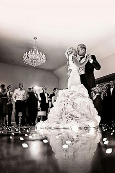 romantic intimate moments.. first dance... black and white photo... weddings