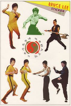 Bruce+Lee+stickers+-+sheet+5+of+6+-+1970's