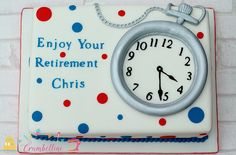 Pocket Watch Retirement Cake