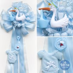 It's a Boy! - Small baby shower door bow custom made for your event!