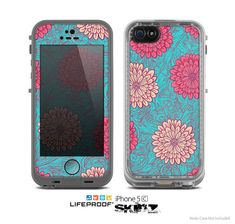The Pink & Blue Floral Illustration Skin for the by TheSkinDudes