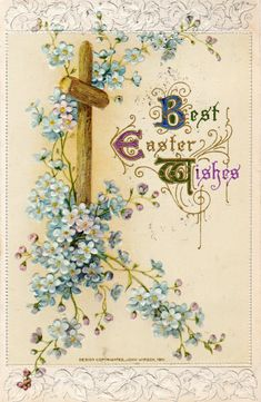 So sweet, Easter postcard from 1912