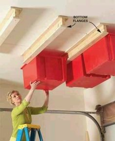 Would work in the basement too!!  Clever idea