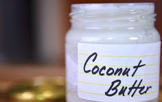 """Delicious, creamy, and oh so good for you, coconut butter is a """"nut butter"""" I can't live without. So easy to whip up in a Vitamix or food processor, you'll wonder why you never did it before!"""
