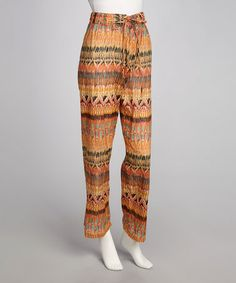Take a look at this Orange & Aqua Pants by Funky People on #zulily today!  I like funky.  v