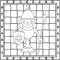 Chess coloring pages printable games Board Game Pieces, Board Games, Free Coloring Pages, Coloring Books, Chess Players, Online Drawing, Colorful Backgrounds, Medieval, Kids Rugs