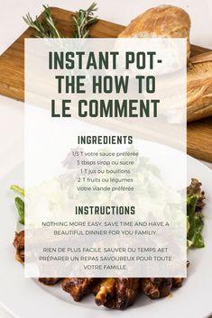 INSTANT POT. How tu use it. Comment l'utiliser. #instantpot #tutoriel #guide #howto #kitchen #cuisine #recipes #recettes #gadgets Instant Pot, Pots, Crockpot, Gadgets, Beef, Dinner, Fruit, Easy, Kitchen