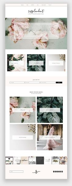 Resplendent Wordpress Theme by brave + beautiful designs on @creativemarket