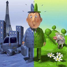 Clases de sol en Bélgica: ¿Qué prefieres? ¿vivir en un pueblo o en una ciuda...