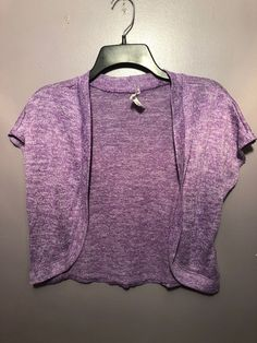 de9c658511a Self Esteem Large Sweater Open Shrug Purple Short Sleeve Girl BF28  fashion   clothing