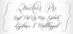Quickier Calligraphy Font