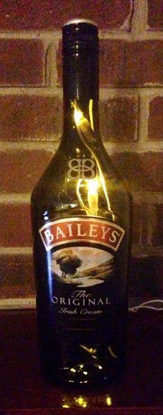 Baileys Irish cream Lighted Bottle lamp by Lightitupcreations