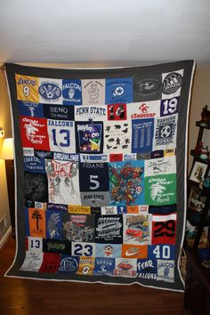 I'd love to make one of these out of my old running shirts someday!