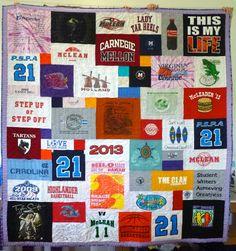 A graduation T-shirt quilt that your child would love.