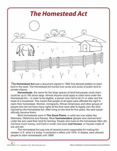 homestead act geographic factors Westward expansion study guide with answers the geographic and economic factors that influenced westward the railroads and the homestead act.