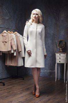Верхняя одежда ручной работы. Ярмарка Мастеров - ручная работа Пальто свадебное.. Handmade.