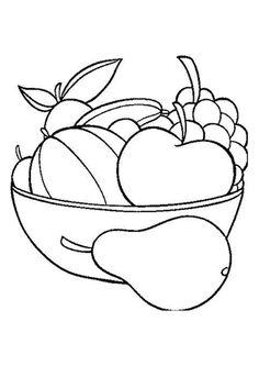 Coloriage Dun Beau Panier De Fruits