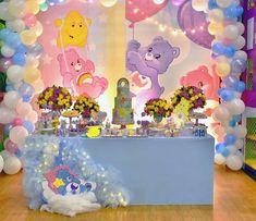 Baby Girl Birthday Decorations, 1st Birthday Party For Girls, Girl Birthday Themes, Baby Girl Shower Themes, Baby Shower Princess, Baby Party, Baby Birthday, Care Bear Birthday, Care Bear Party