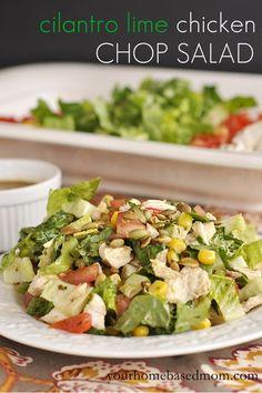 cilantro lime chicken chop salad www.yourhomebasedmom.com