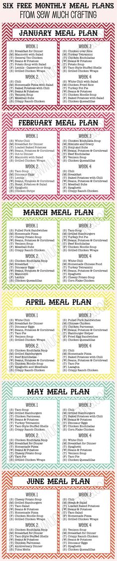 I love to plan out my meals. Here are 6 FREE Monthly Meal Plan Printables in case you need help coming up with ideas.
