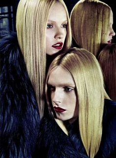 Androgynous Twin Photography - Andrej Pejic and Ginta Lapina are Mirror Images in Numero Magazine (GALLERY)