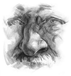 How To Draw Noses | How to draw noses, free art demonstration - drawing the human nose