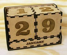 Perpetual Calendar by Paperkutz Laser Cut Box, Laser Cutting, Laser Cutter Projects, Table Top Design, Laser Machine, Perpetual Calendar, Wooden Art, Laser Engraving, Engraving Ideas