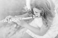 Girl with a flute, photo shoot for a flute player, creative shoot by Orlando photographer. Visit www.tamaraknight.com