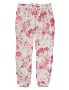 Tickled Pink Floral Print Harem Pant product photo