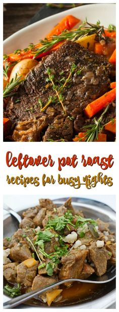 25 Leftover Pot Roast Ideas for Busy Nights. 25 Leftover Pot Roast Ideas for Busy Nights via Are you looking for leftover pot roast ideas? I love making a pot roast in our slow cooker or Instant Pot, but then I have a refrigerator full of leftovers. Left Over Pot Roast Recipe, Leftover Roast Recipe, Best Roast Beef Recipe, Chuck Roast Recipes, Pot Roast Recipes, Leftover Steak, Tofu Recipes, Drink Recipes, Best Dinner Recipes