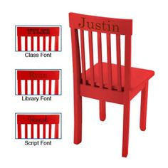 KidKraft Personalized Avalon Red Chair