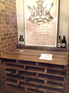 Wine storage made from wood pallets