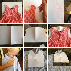 DIY ::: Upcycled Toddler Shirtdress Tutorial » happy pretty home