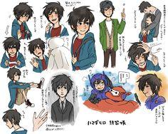 Hiro sketches in colour. If I had these on my I-pod nano, I could of drawn Hiro's hair qwicker Big Hero 6 2, Hiro Big Hero 6, Disney Movies, Disney Characters, Fictional Characters, Hiro Hamada, Cool Sketches, Disney And Dreamworks, Cute Quotes